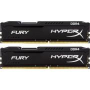 DDR4, KIT 8GB, 2x4GB, 2666MHz, KINGSTON HyperX Fury Black, CL15 (HX426C15FBK2/8)