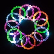 Led Bracelets *12 Pack* And *12 Extra Batteries* For Replacement And Designed Gift Box. Great For Parties Weddings Birthdays And More. Super Safety Multicolor Bracelet Is Reusable With On/Off Switch
