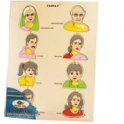 Early Smile Wooden Puzzle Family For Kids