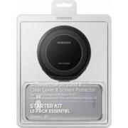 Starter Kit Samsung Galaxy S8 Plus G955 - Husa Folie Protectie Incarcator Si Cablu