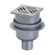 Sifon Kessel 40250.20, Classic bathroom drain, 100x100mm, diametru 50