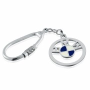 BMW Logo/Badge Sterling Silver Keyring