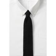 ランズエンド LANDS' END メンズ・シルク・ニット・タイ/ネクタイ(ブラック)