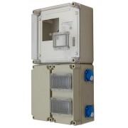 Egyfázisú fogyasztásmérőhöz 2db alsó 150x300x170mm kábelfogadó és elmenő PVT 3030 FO 2x6 ÁK - D