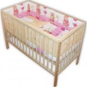 Lenjerie patut bebe cu 5 piese ursuletul gradinar roz