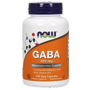 NOW Foods Gaba 500mg 100 Capsules Vcaps