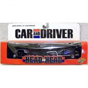Road Champs Car and Driver Head to Head 1:43 Scale Limited Edition 1965 Ford Mustang vs. 1969 Ford Mustang Set