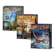 Dig A Dinosaur Excavation Dino Kit Pterosaur Brachiosaurus Velociraptor Dinosaurs 3 Pack