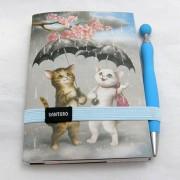 Gorjuss napló tollal - Raining Cats