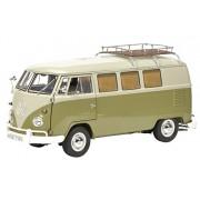 Schuco - 450036500 - Volkswagen T1 Westfalia Camper Avec Galerie - Echelle 1/18 - Vert/Blanc