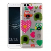 Huawei P9 Love Owls Pattern IMD Workmanship Soft TPU Protective Case