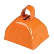 3-inch Orange Metal Cow Bell (Bulk Pack of 12 Bells)