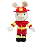 BUNNY OF THE YEAR - Baby First TV - Fireman Harry the Bunny Soft Plush Toy - Perfect Baby Shower Gifts - Lovie Security Blanket - Toddler Toys - Baby Gift - Baby Toys for Boys PERFECT BIRTHDAY GIFT