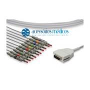 CABO PARA ELETROCARDIÓGRAFO 10 VIAS COMPATÍVEL BURDICK® EK-10 P/N 012-0700-00 / Registro Anvisa 80787710009 - NQA-EL003