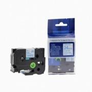 Brother TZ-253 / TZe-253, 24mm x 8m, modrý tisk / bílý podklad kompatibilní