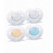 Avent Suzete 0-6 luni, Transparente x 2 buc, 0%BPA