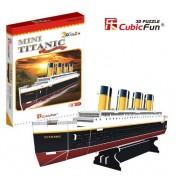 Mini vasul Titanic - Puzzle 3D - 30 de piese