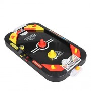 Graces Dawn Two Player Desktop 2 in 1 Soccer and Knock Hockey Table Top Game Classic Arcade Games Tabletop Soccer Ball Ice Hockey Shooting Fun Toys
