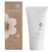 Нощен крем за лице с мед от манука за нормална към суха кожа - Natural Being Manuka honey night cream 50 мл