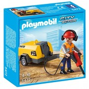 PLAYMOBIL Construction with Worker Jack Hammer