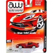 AUTO WORLD 1:64 SCALE RED 2014 DODGE VIPER SRT DIE-CAST