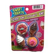 Sweet Treats Dessert Puzzle Erasers ~ Ice Cream Cone, Tart, Shortcake