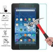 2015 Amazon Fire 7 Screen Protector EpicGadget(TM) Ultra HD Clear Anti Bubble Anti Fingerprint Anti Scratch 9H Hardness Tempered Glass Screen Protector Fire 7 2015 Version