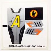 "Lego Original Sticker for Agents Set #8967 ""Gold Tooth's Getaway"""