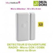 DELTA DORE Détecteur d'ouverture Radio micro COX ou micro COBX - Delta Dore - pile lithium fournie