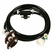 SMB Manufacturing 6' Plumbing Kit with In-Line Shut Off & Black Hose - PK