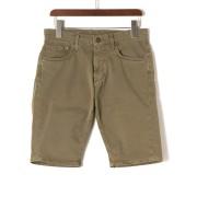 【89%OFF】PRINCE SHORT COTTON164TO 5ポケット ハーフパンツ ベージュカーキ 28 ファッション > メンズウエア~~パンツ