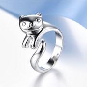 Anéis Casamento / Pesta / Diário Jóias Prata de Lei Feminino / Masculino / Casal Anéis de Casal 1pç,Ajustável Prateado