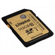 Card de memorie Kingston SDXC 512GB, Clasa 10, UHS1, 90MB/s Citire, 45MB/s Scriere