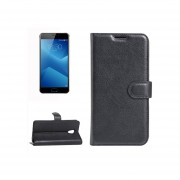 Meizu M5 Note Litchi Texture Horizontal Flip Leather Case With Holder And Card Slots And Wallet(black)