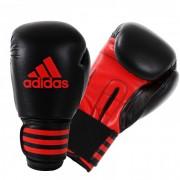 Adidas Power 100 (Kick)Bokshandschoenen Zwart-Rood - 8 oz