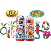 ALEX Toys So Much Lanyard & Cool Spool Knitting Kit Tubes Gift Set Bundle - 2 Pack