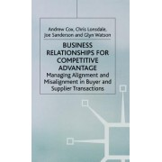 Business Relationships for Competitive Advantage: Managing Alignment and Misalignment in Buyer and Supplier Transactions