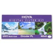 Hoya Digital set filtru (UV(C), CPL, NDx8) (58mm)