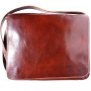 Florence Leather Market Borsa business a tracolla (6555)