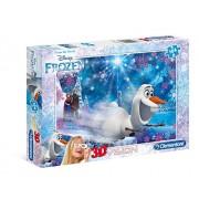 Frozen - Puzzle 3D, 104 piezas, con gafas (Clementoni 206032)