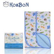 Kosbon Extra Large (40 x 30 ) Infant Baby Deluxe Flannel And Bamboo Fiber Cotton Change Pad Waterproof Cartoon Pattern Diaper Changing Pad For Home And Travel (L Size Monkey)