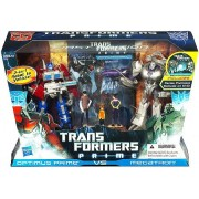 Transformers Prime First Edition Action Figure Set - Optimus Prime vs Megatron with DVD - Entertainment Pack Limited Edition (japan import)