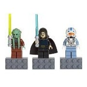 LEGO Star Wars Minifigure Magnet Set 852947 Kit Fisto, Bariss Offee and Captain Jag
