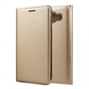 Synthetic Leather Case Cover for Samsung Galaxy J2 J200 J200F J200G Gold