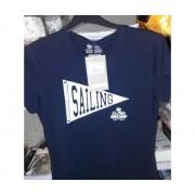 Musto T-Shirt Unisex Taglia 40 Blu Flag Ss Tee Fw Zlr1010 Comoda Sportiva 100% Cotone