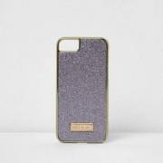 River Island Womens Purple glitter iPhone 6/7 case