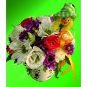 Aranjament floral in cana personalizata