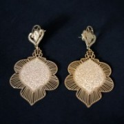 Semi Earring Gold Plated Jewelry