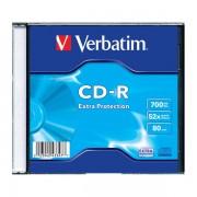 CD-R 52x 700MB Verbatim Extra Protection Caja Slim 1uds