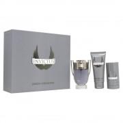 Paco Rabanne Invictus Комплект (EDT 100ml + AS Balm 100ml + Deo Stick 75ml) за Мъже